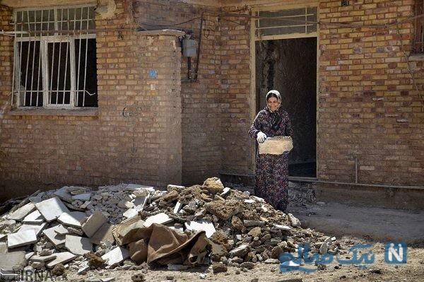 مشکلات و زندگی سخت مردم در پل دختر پس از سیل + تصاویر