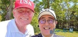 تصاویری جالب از ترامپ و نخست وزیر ژاپن در حال بازی گلف