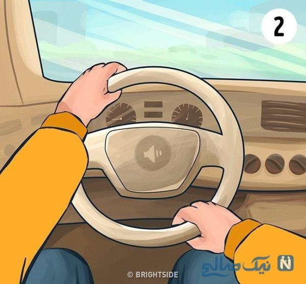 طرز فرمان گرفتن ماشین