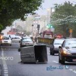 تصاویری از وزش باد شدید و طوفان در تهران