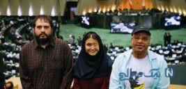 تصاویری از حضور قربانیان اسیدپاشی در جلسه علنی مجلس
