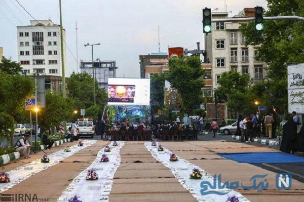 تصاویری از مراسم افطاری در خیابانهای تهران