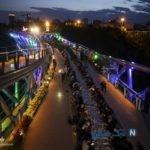 مراسم افطاری ساده در پل طبیعت تهران + تصاویر