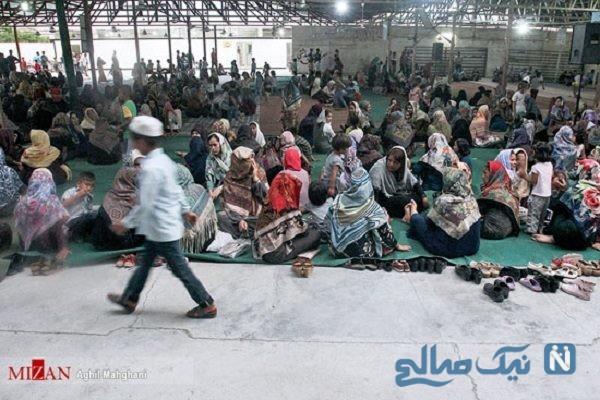 سفره افطاری ۸۰۰۰ نفری در مناطق سیل زده آق قلا + تصاویر