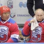 زمین خوردن پوتین در هاکی روی یخ سوژه رسانه ها شد!