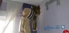 کشف منشا صداهای عجیب از دیوار خانه یک زوج+تصاویر