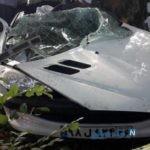 تصاویری وحشتناک از تصادف شدید ۲۰۶ با درخت