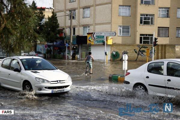 جاری شدن سیلاب در مشهد