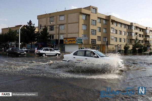 آبگرفتگی شدید و جاری شدن سیلاب در مشهد