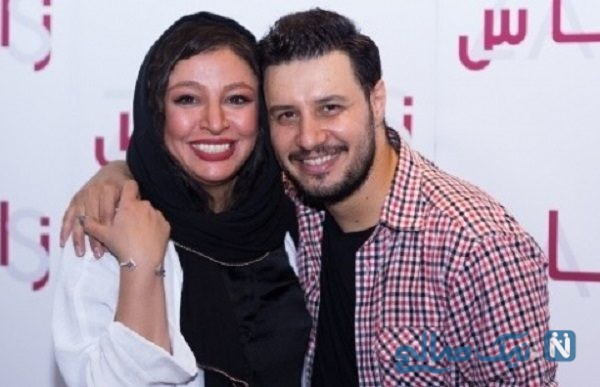 جواد عزتی و همسرش در پشت صحنه فیلم بزرگراه