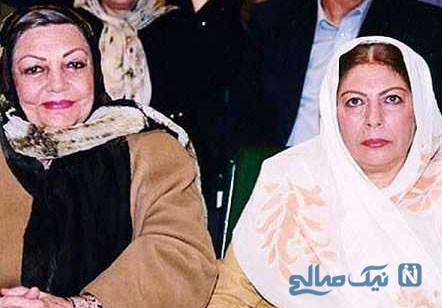 زنده یاد حمیده خیرآبادی در کنار دختر و نوه اش