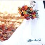 عروس و داماد ایرانی با لباس عروسی در فرودگاه مهرآباد تهران+تصاویر