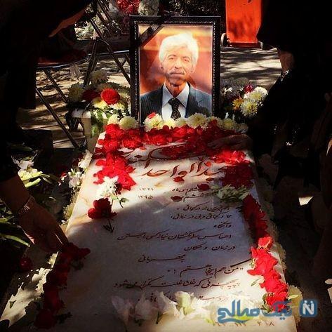 عکس سنگ قبر مرحوم اسکندری که دخترش لاله منتشر کرد +عکس