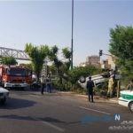 نجات دو سرنشین به شکل معجره آسا بر اثر واژگونی خودروی ۲۰۶