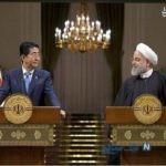 پست حسن روحانی بعد از دیدار با نخست وزیر ژاپن+تصاویر