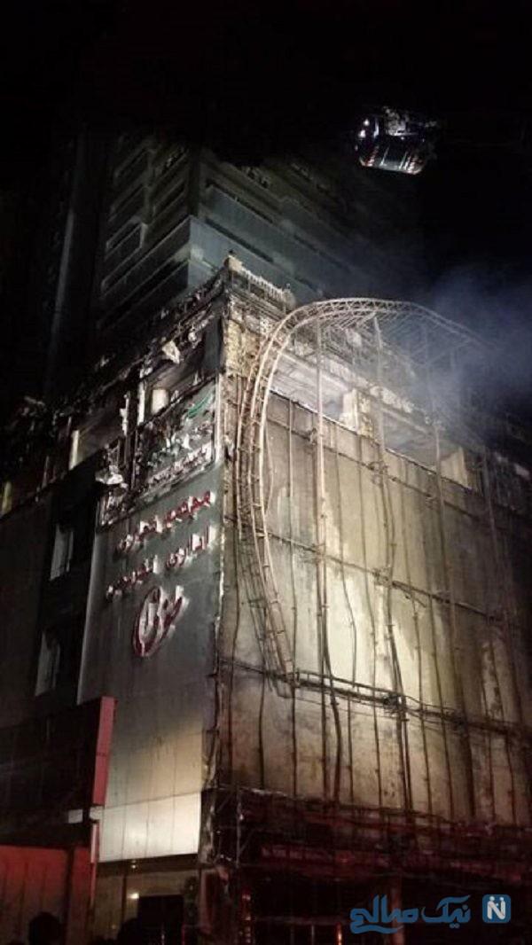 آتش سوزی در مجتمع تجاری