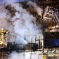 آتش سوزی در مجتمع تجاری در بلوار کوهک تهران