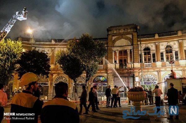 تصاویری وحشتناک از آتش سوزی در میدان حسن آباد