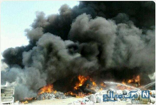 آتش سوزی شدید کامیون در قم همه را به وحشت انداخت!