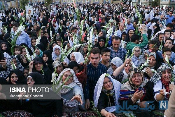 مراسم ازدواج هشت زوج معلول در امامزاده صالح در ولادت امام رضا