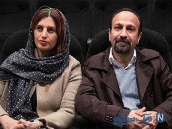 اصغر فرهادی و همسرش