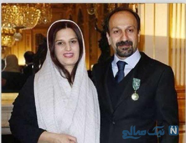 حضور اصغر فرهادی و همسرش پریسا بخت آور در تئاتر اشکان خطیبی