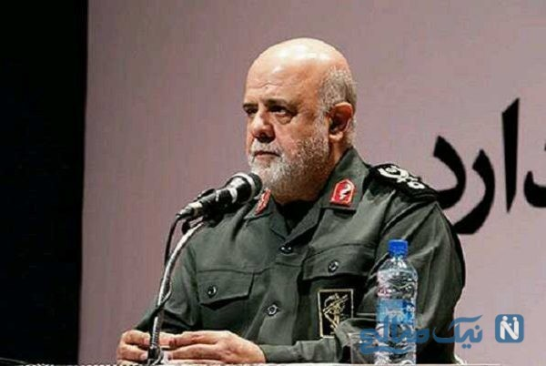 ایرج مسجدی سفیر ایران در مراسم تشییع نظافتچی سفارتخانه