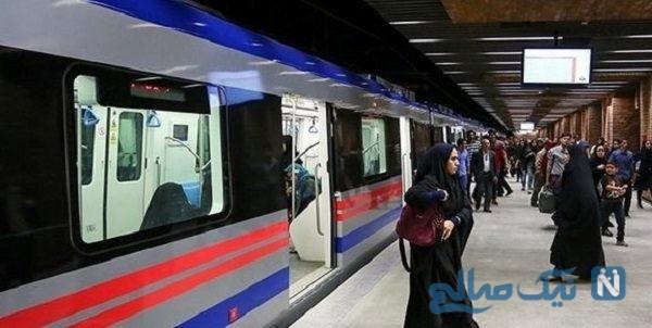 بی حجابی در مترو تهران