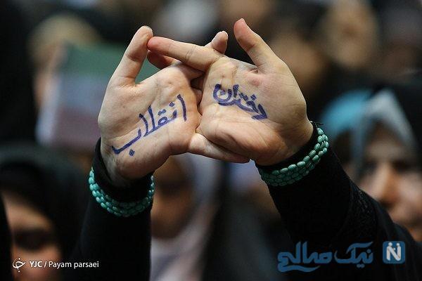 تجمع دختران انقلاب در ورزشگاه شهید شیرودی تهران