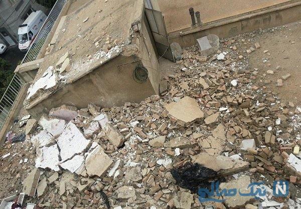 تصاویری از تخریب یک منزل مسکونی در غرب تهران
