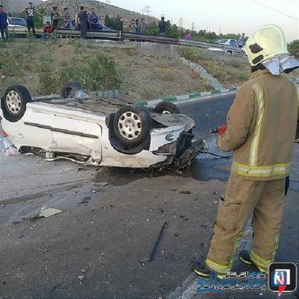 تصادف شدید تیبا