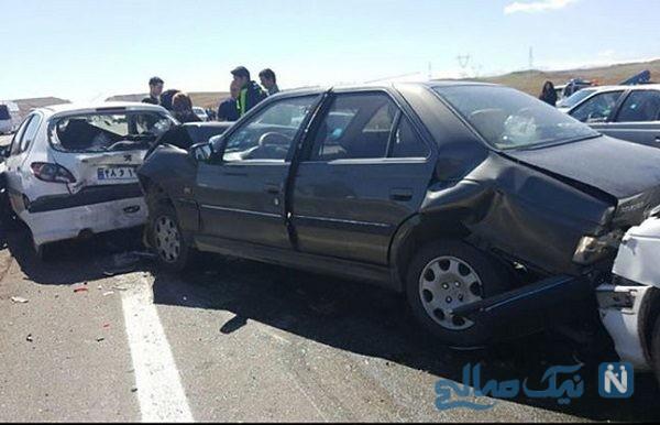 تصادف شدید کامیون با چندین خودرو در تبریز خبرساز شد!
