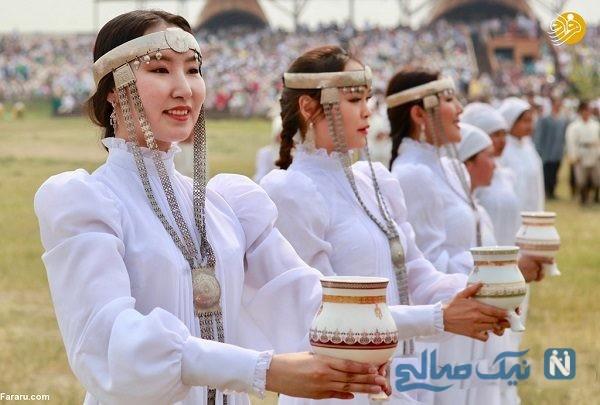 تصاویری جالب از مراسم جشن سال نو یاقوت ها در یاقوتستان