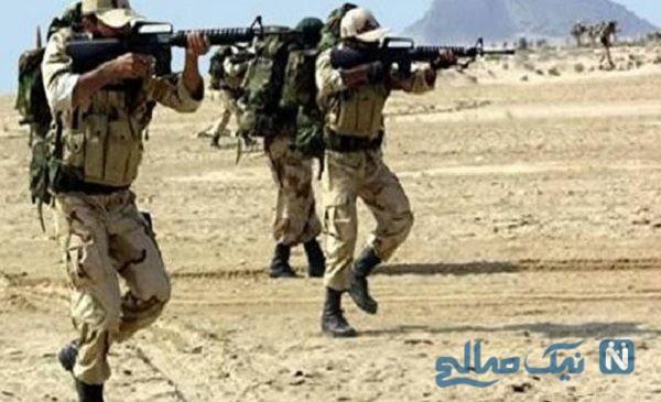 عکسی از خودروی پاسداران حمله تروریستی پیرانشهر