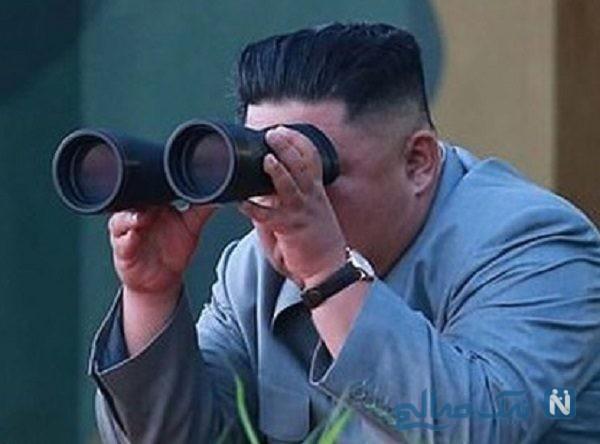 خوشحالی عجیب رهبر کره شمالی حین آزمایش موشکی