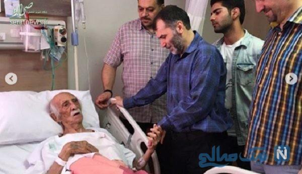 داریوش اسدزاده در بیمارستان