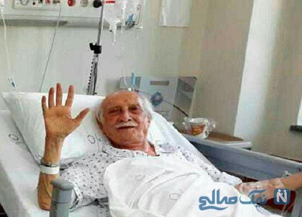 ملاقات مسعود ده نمکی از داریوش اسدزاده در بیمارستان
