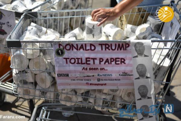 دستمال توالت ترامپ
