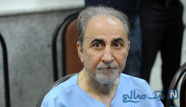 تصویری از دیدار مسعود استاد با نجفی در دادگاه