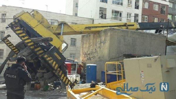 سقوط جرثقیل در نگین پارک تبریز با یک مصدوم
