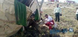 نخستین تصاویر از سقوط مینی بوس به داخل دره در خوانسار