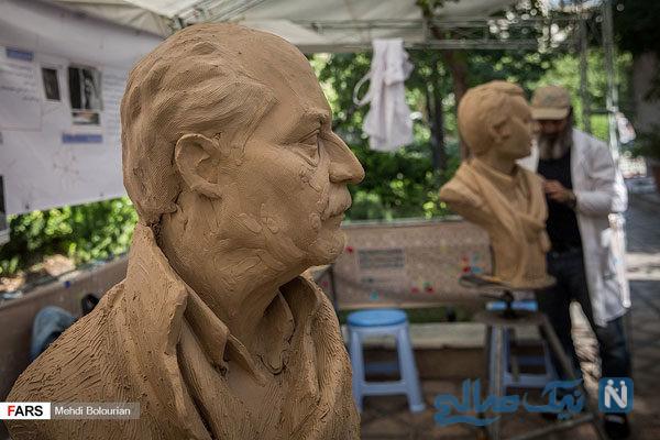 دومین سمپوزیوم مجسمه سازی مفاخر ایران در عمارت عین الدوله تهران