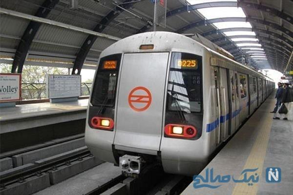 ایستگاه مترو هند بی نظم تر و شلوغ تر از مترو تهران