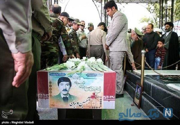 سانسور سبیل و کراوات عکس شهید سرلشکر حسین ادبیان