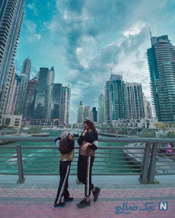 عکس الهام عرب و دخترش