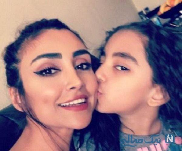 جدیدترین عکس الهام عرب و دخترش در دبی