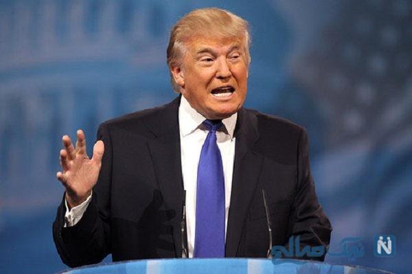 عکس پشت سر ترامپ در سخنرانی اش جنجالی شد!