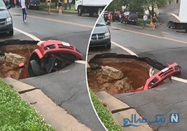 فرو رفتن ماشین در زمین