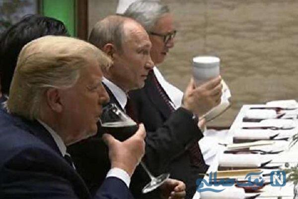 راز لیوان سفید پوتین رئیس جمهور روسیه افشا شد!