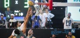 مسابقات بسکتبال خیابانی در بوستان آب و آتش